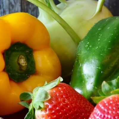 Fresh fruit and vegetables for Veganuary