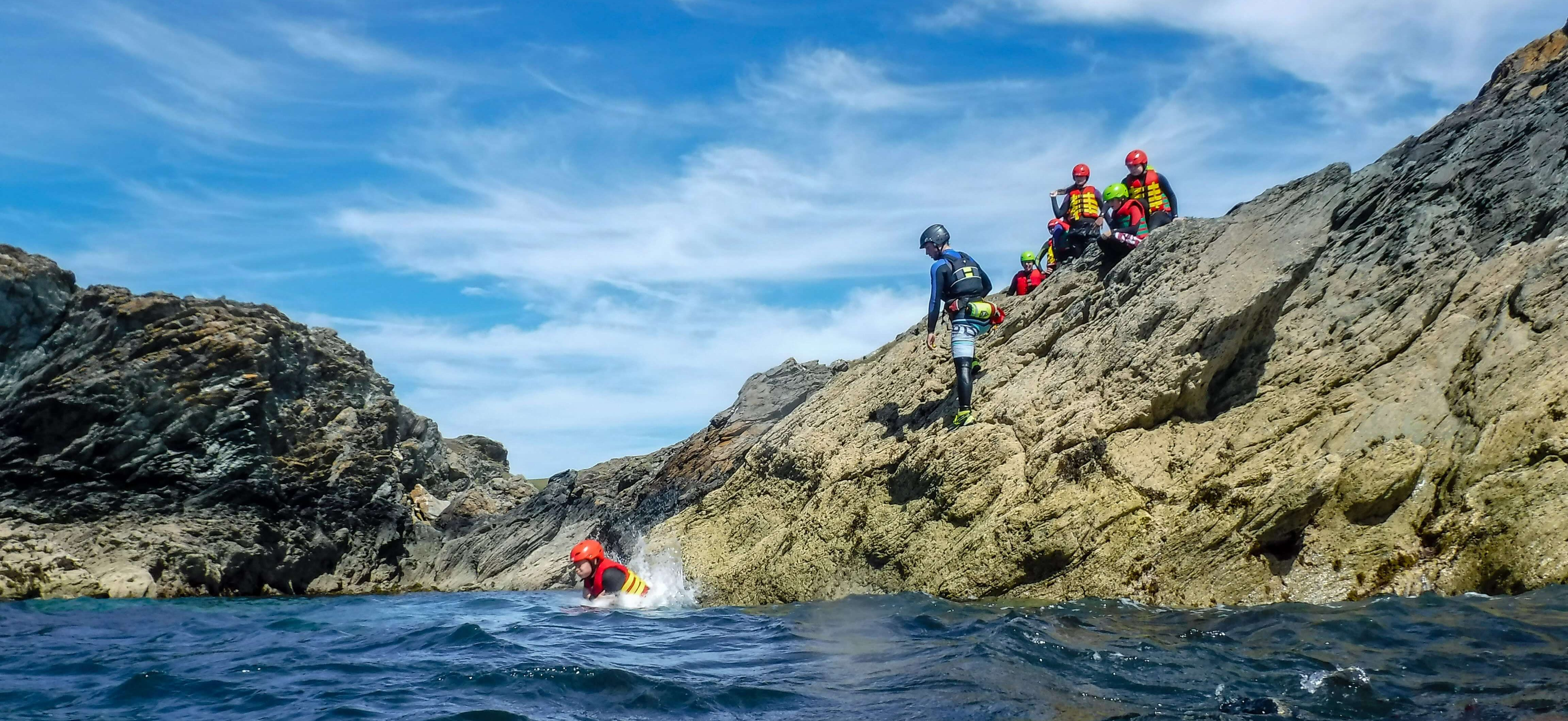 Coasteering is the perfect activity for corporate incentive travel