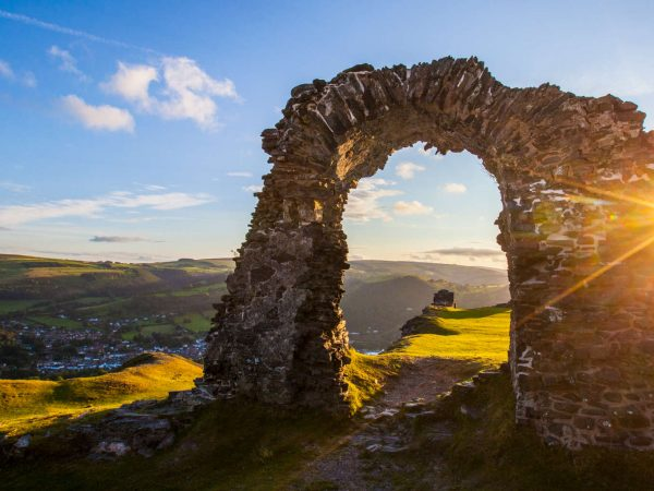 Mindfulness Adventure experience at Dinas Bran on a multi activity holiday in North Wales
