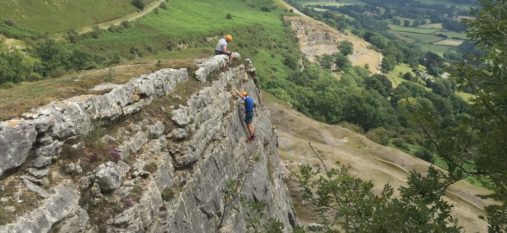 Abseiling on a UK staycation to learn the positive benefits of mindfulness and adventure